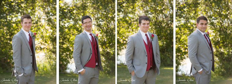 Groomsmen with red vests