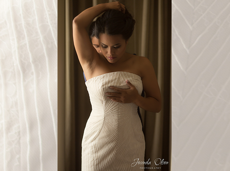 Bride getting ready at the Bellevue Westin Hotel