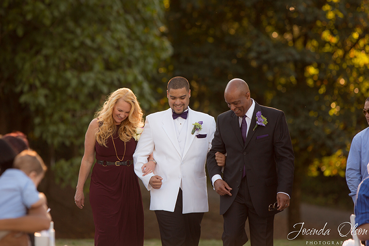 Groom and parents at Luther Burbank Park Wedding