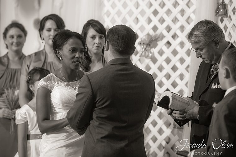 Bride with groom at the alter