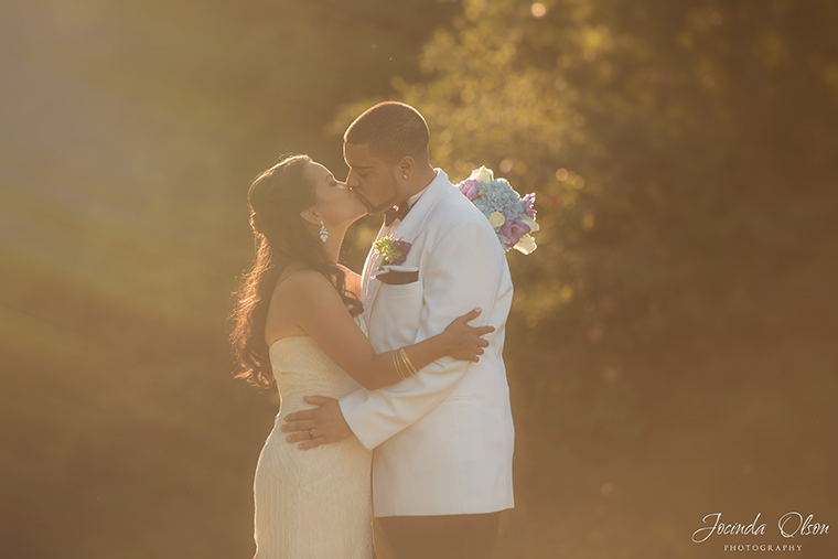 Bride and Groom portrait at Luther Burbank Park Mercer Island