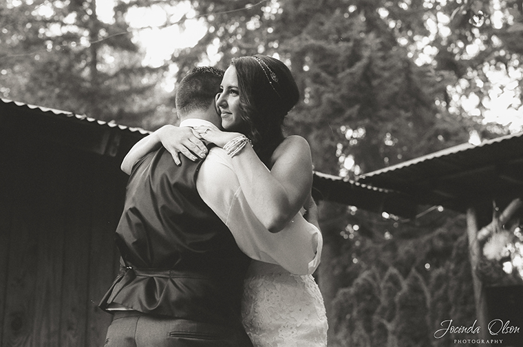 Bride and Groom first dance at Maroni Meadow wedding venue